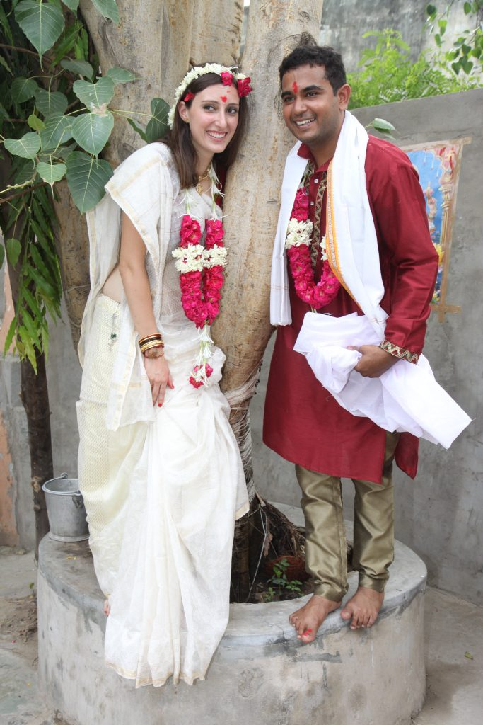 Mi Saree en mi boda hindú